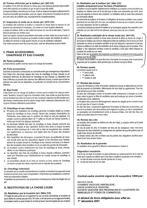 Modele bail a loyer valais document online - Droit des locataires sans bail ...